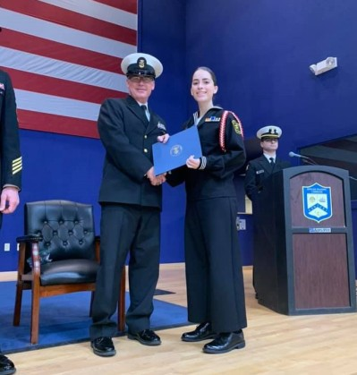 SN Manley Awarded Battalion Honor Graduate